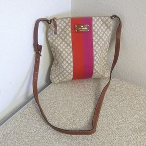 Kate Spade NY Beige/Red Crossbody Bag